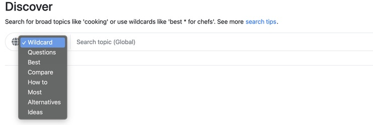 Keyword Chef search by type