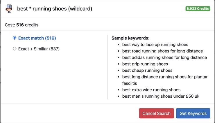 Keyword Chef wildcard search