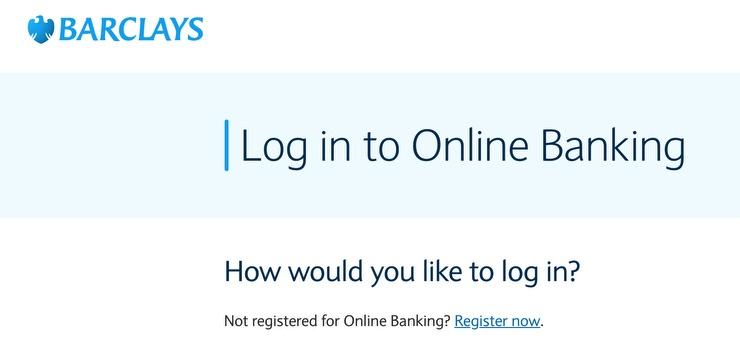 Log In To - Barclays Screenshot