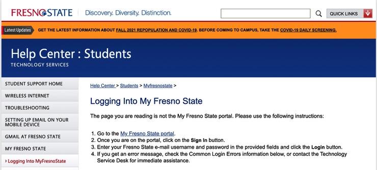 Login and Sigin Fresno Screenshot